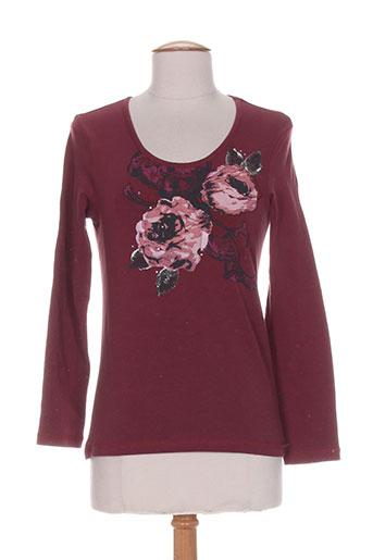 bleu de sym t-shirts femme de couleur rouge