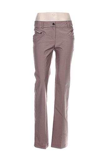 lasagrada pantalons femme de couleur marron