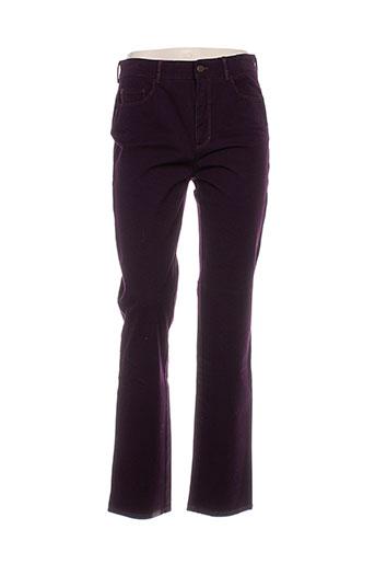 rosner pantalons femme de couleur violet