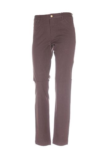 Pantalon casual marron IN WEAR pour femme