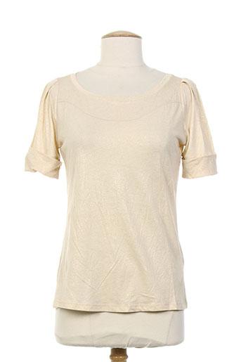 sportmax t-shirts / tops femme de couleur beige