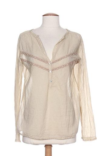kosmika chemises femme de couleur beige
