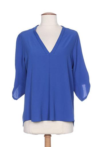 purple's by sh chemises femme de couleur bleu