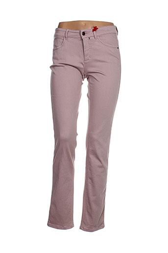 ascari jeans femme de couleur rose