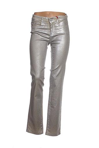 Pantalon casual gris ASCARI pour femme