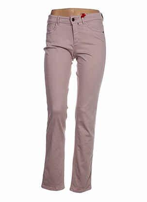 Jeans coupe slim rose ASCARI pour femme