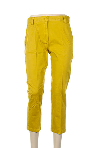 essentiel pantacourts femme de couleur jaune