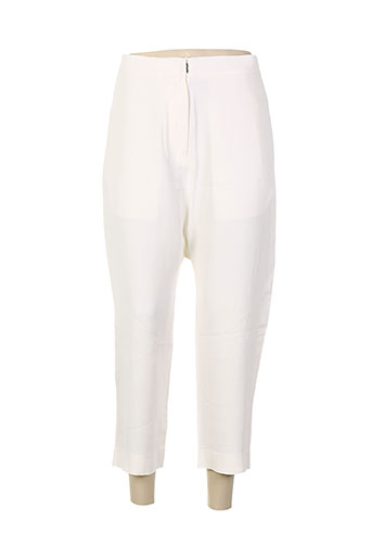 noro pantalons femme de couleur beige
