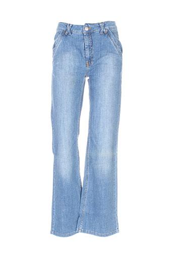 margit brandt jeans femme de couleur bleu