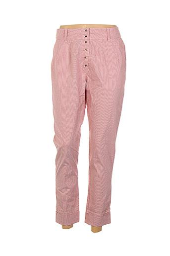 jayko pantalons femme de couleur rouge