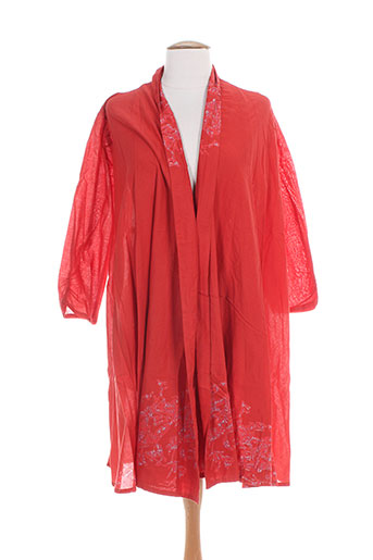lili soon vestes femme de couleur rouge
