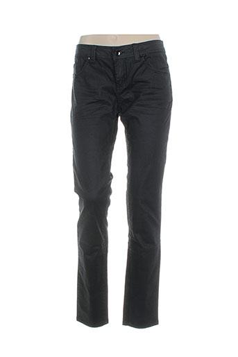 bisou d'eve pantalons femme de couleur noir