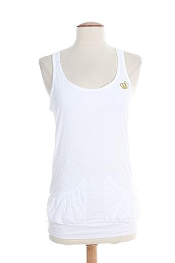 adidas tops femme de couleur blanc