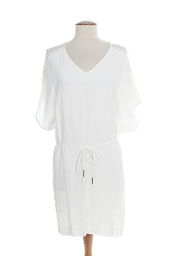 suncoo robes et mi et longues femme de couleur blanc