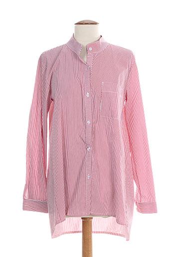 nvy denim chemises femme de couleur rose