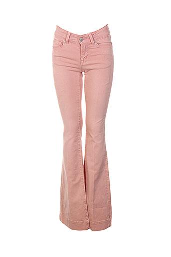nvy denim pantalons femme de couleur rose