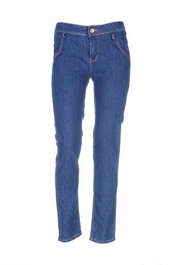 l'ete rose jeans femme de couleur bleu