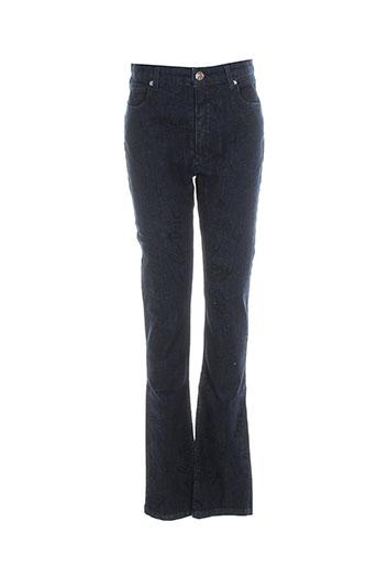 Jeans coupe slim bleu AMERICAN RETRO pour femme
