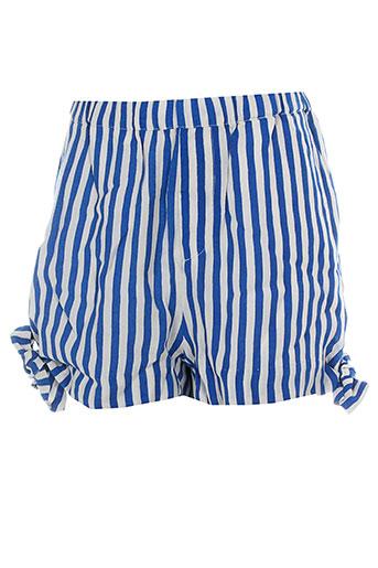 custommade shorts / bermudas femme de couleur bleu