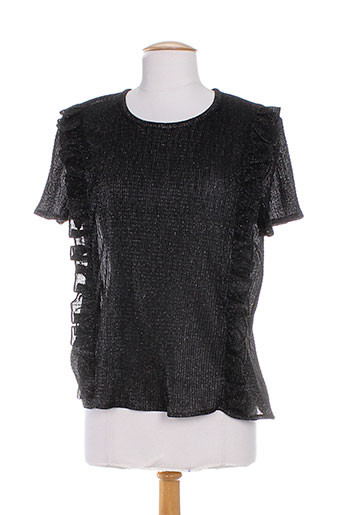 anna studio chemises femme de couleur noir