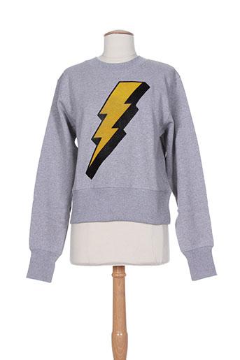 Sweat-shirt gris AMERICAN RETRO pour femme