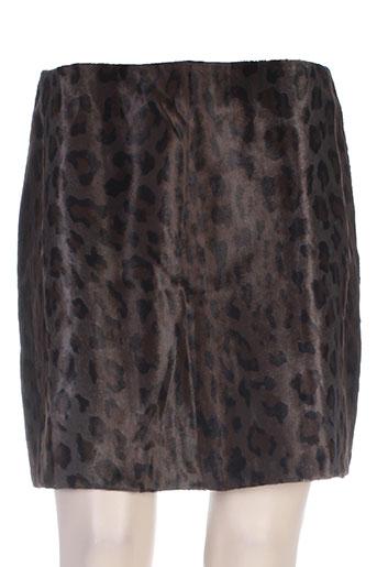 sportmax jupes femme de couleur marron