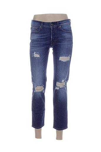 jeans jeans femme de couleur bleu