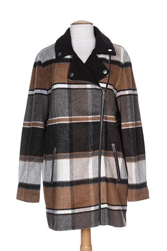 vila manteaux femme de couleur marron