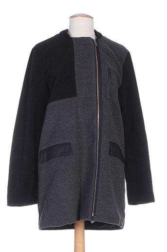 vila manteaux femme de couleur gris