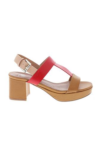 vanessa et wu sandales et nu et pieds femme de couleur marron