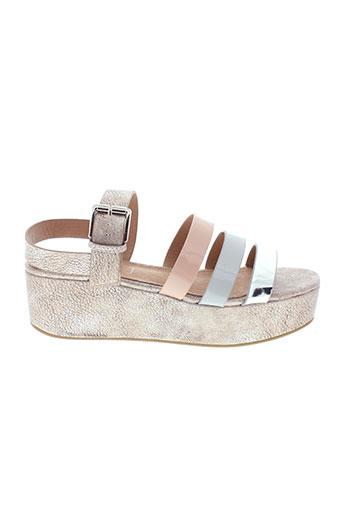 vanessa et wu sandales et nu et pieds femme de couleur gris