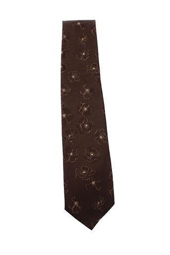 hugo et boss cravates homme de couleur marron