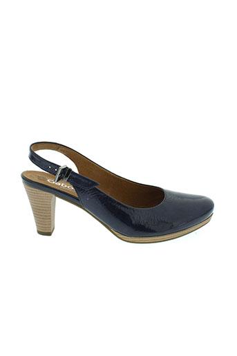 gabor chaussures femme de couleur bleu