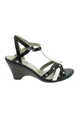 j et metayer sandales et nu et pieds femme de couleur noir