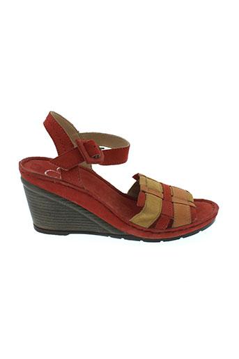 karston sandales et nu et pieds femme de couleur rouge