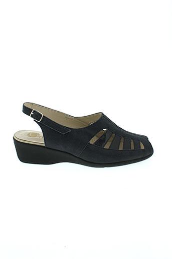 ombelle sandales et nu et pieds femme de couleur bleu