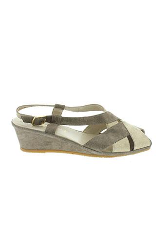 spiffy sandales et nu et pieds femme de couleur marron