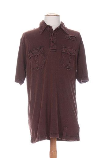 impact t-shirts homme de couleur marron