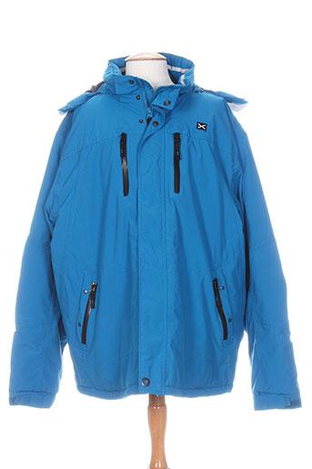 greyes manteaux homme de couleur bleu