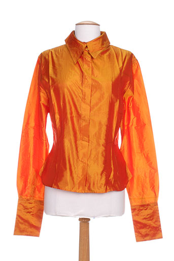 partner's chemises femme de couleur orange