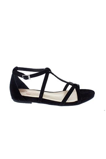 jb et martin sandales et nu et pieds femme de couleur noir
