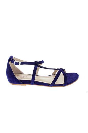 jb et martin sandales et nu et pieds femme de couleur bleu