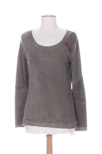 coco menthe t-shirts femme de couleur marron
