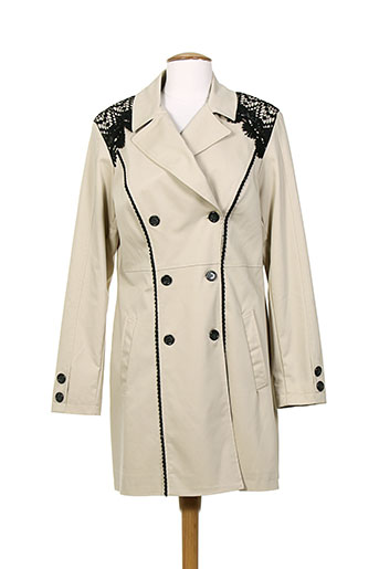kitana manteaux femme de couleur beige