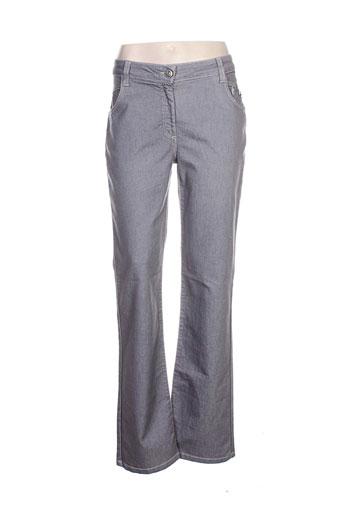 elisa cavaletti pantalons femme de couleur gris