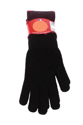 berthe et aux et grands et pieds gants femme de couleur noir