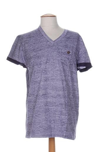 T-shirt manches courtes violet RELAY JEANS pour homme