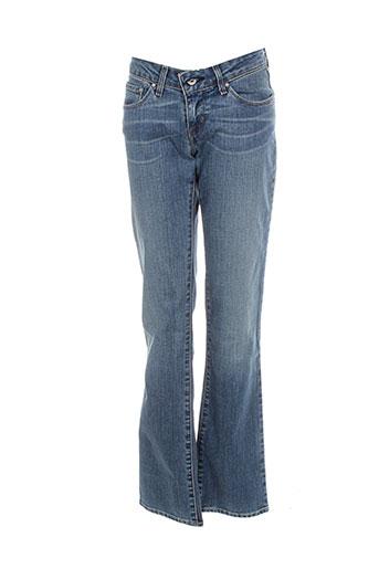 levis jeans et coupe et droite femme de couleur bleu
