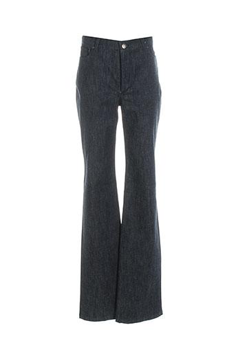 bernard zins jeans femme de couleur bleu