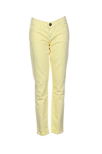 Pantalon casual jaune CURRENTE/ELLIOTT pour femme